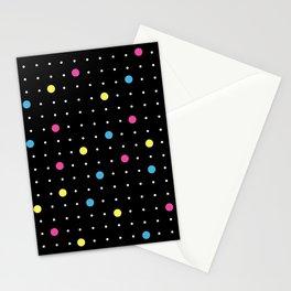 Pin Points CMYK Black Stationery Cards