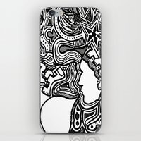 techno iPhone & iPod Skins featuring Techno by Madison R. Leavelle