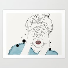 Can't get likes Art Print