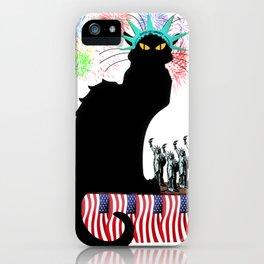 Lady Liberty - Patriotic Le Chat Noir iPhone Case