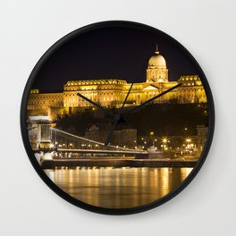 Budapest Chain Bridge And Castle Wall Clock