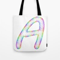 letter Tote Bags featuring Letter A by David Zydd