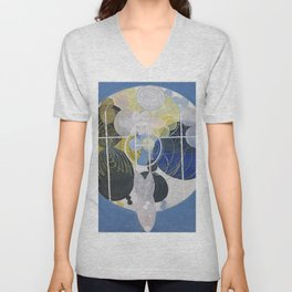 "Hilma Af Klint ""The Large Figure Paintings, No. 5, Group III, The Key to All Works to Date, The WU/R Unisex V-Neck"