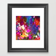Floral chaos Framed Art Print