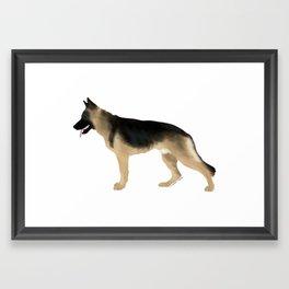 German Shepherd: Tan & Black Framed Art Print