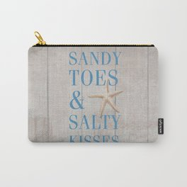 Sandy Toes and Salty Kisses Carry-All Pouch