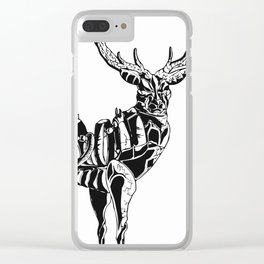 Mecha deer Clear iPhone Case