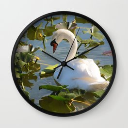 Sweet Swan Wall Clock