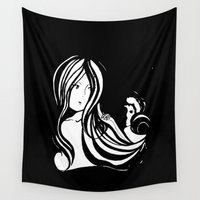 fear Wall Tapestries featuring Fear by lizie33