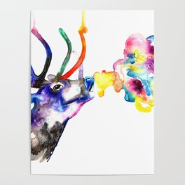 Winter Stag fantasy Christmas Gifts Poster