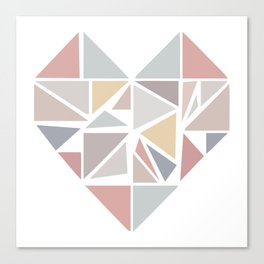 Origami heart Canvas Print