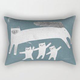 Cat Family of sacred birman Rectangular Pillow