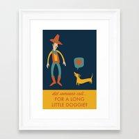 dachshund Framed Art Prints featuring Dachshund by Ariel Wilson