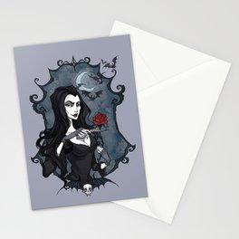 Morticia Addams portrait Stationery Cards