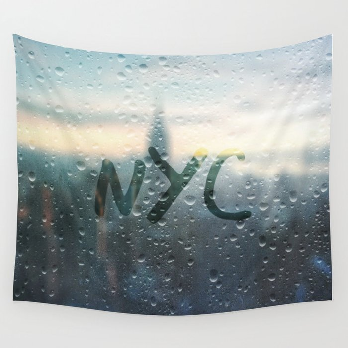 Rainy Day in NYC Wall Tapestry