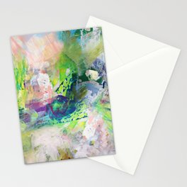 Green Paint Splash Stationery Cards