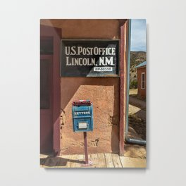 Post Office Lincoln NM Metal Print