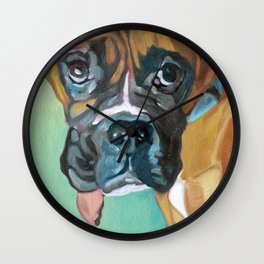 Drako the Rescued Boxer Wall Clock