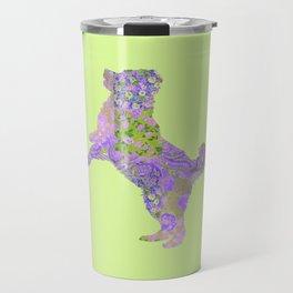 Bernese Mountain Dog Vintage Floral Pattern Purple Lilac Lavender Green Pink Travel Mug