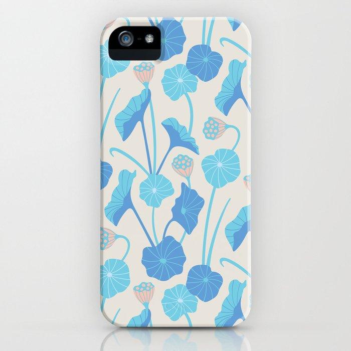 LOTUS POND Pattern iPhone Case