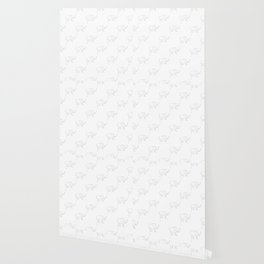Line Elephant March (White) Wallpaper