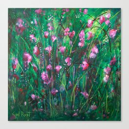 """WOODLAND SPRING"" Original Painting by Cyd Rust Canvas Print"