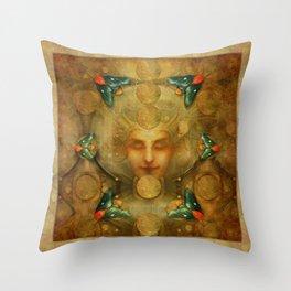 """Art Deco II The Chimera (Moth)"" Throw Pillow"