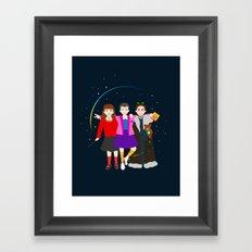 Stranger Friends Framed Art Print