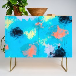 Abstract Paint splatter design Credenza