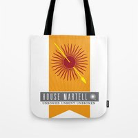 martell Tote Bags featuring House Martell Sigil V2 by P3RF3KT