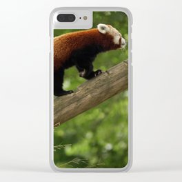 Happy Red Panda. Clear iPhone Case