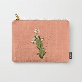 V for Verbena Carry-All Pouch