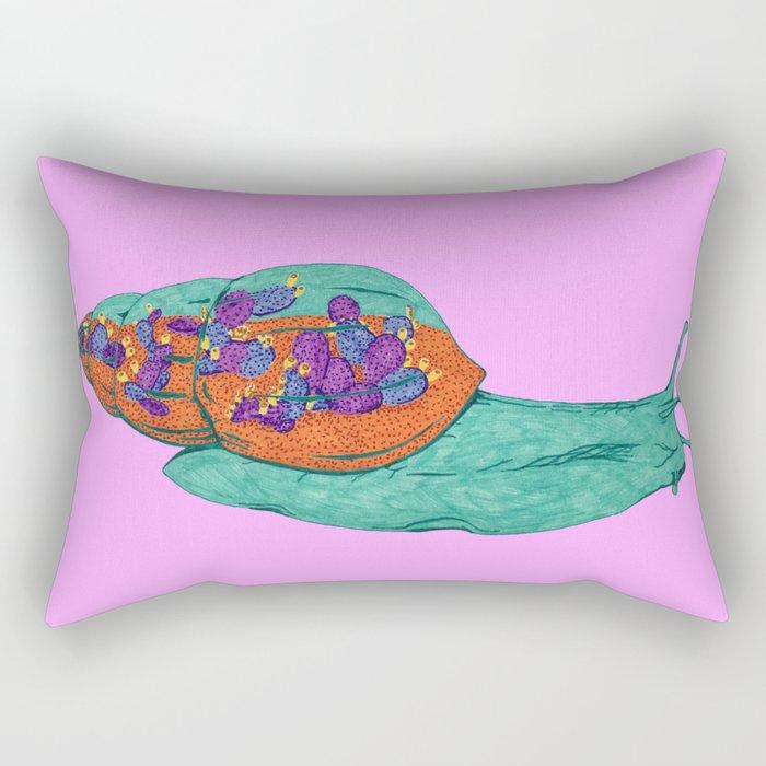 Snail Terrarium Rectangular Pillow