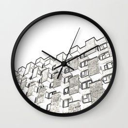 Architecture: brutalism Wall Clock