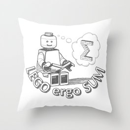 I read, therefore I am Throw Pillow