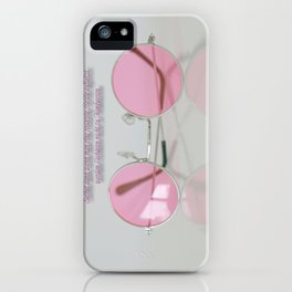 When setting up a rose-colored glasses... iPhone Case