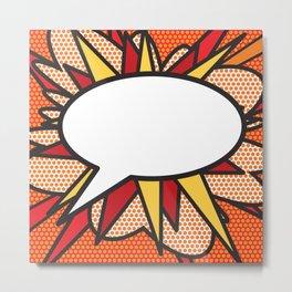 Speech Bubble Comic Book Flash Modern Art Pop Culture Graphic Metal Print