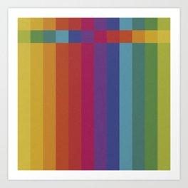 The Color Wheel / Rainbow Stripes Art Print