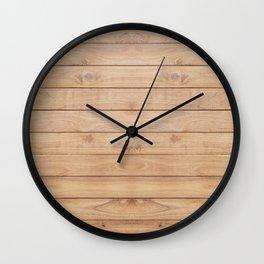 Wood plank pattern Wall Clock