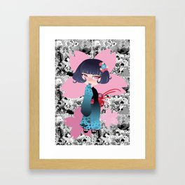 Hina pink Framed Art Print