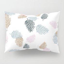 Palm leaves tropical beach garden hawaii jungle pattern link blue rust Pillow Sham