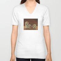 sushi V-neck T-shirts featuring Sushi by Joe Palumbo