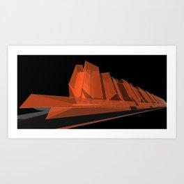 Fripp City C2 Art Print