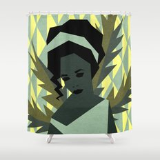The shy girl Shower Curtain