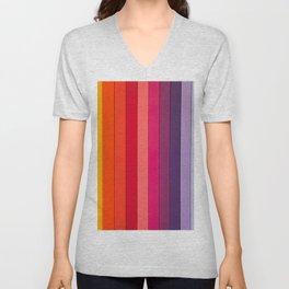 vertical lines colors Unisex V-Neck