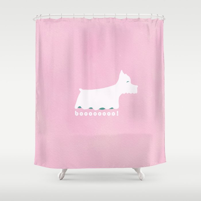 Schnauzer The Spooky Shower Curtain By Ulasuygun