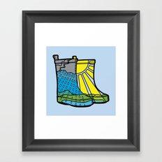 Rainy Day Boots Framed Art Print