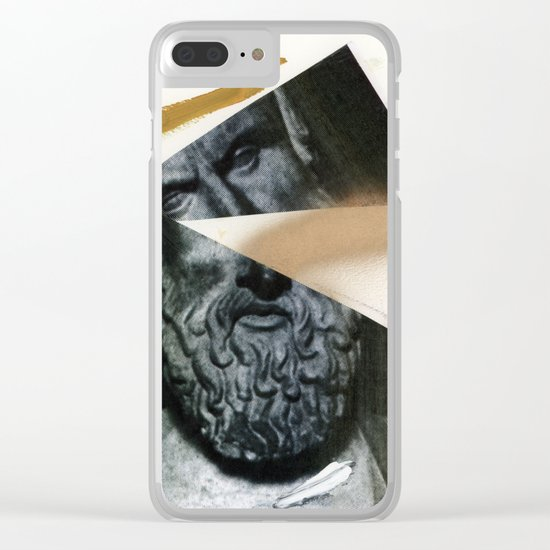 Untitled (Painted Composition 12) Clear iPhone Case