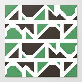 geo-camo Canvas Print