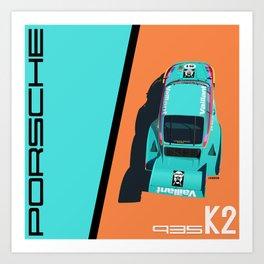 1977 935 Kremer K2 - DRM Nürburgring - Bob Wollek Winner Art Print